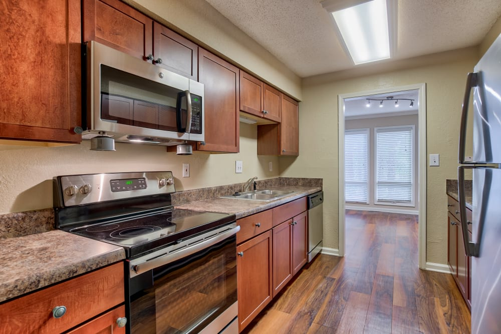 Kitchen at Apartments in Sandy Springs, Georgia
