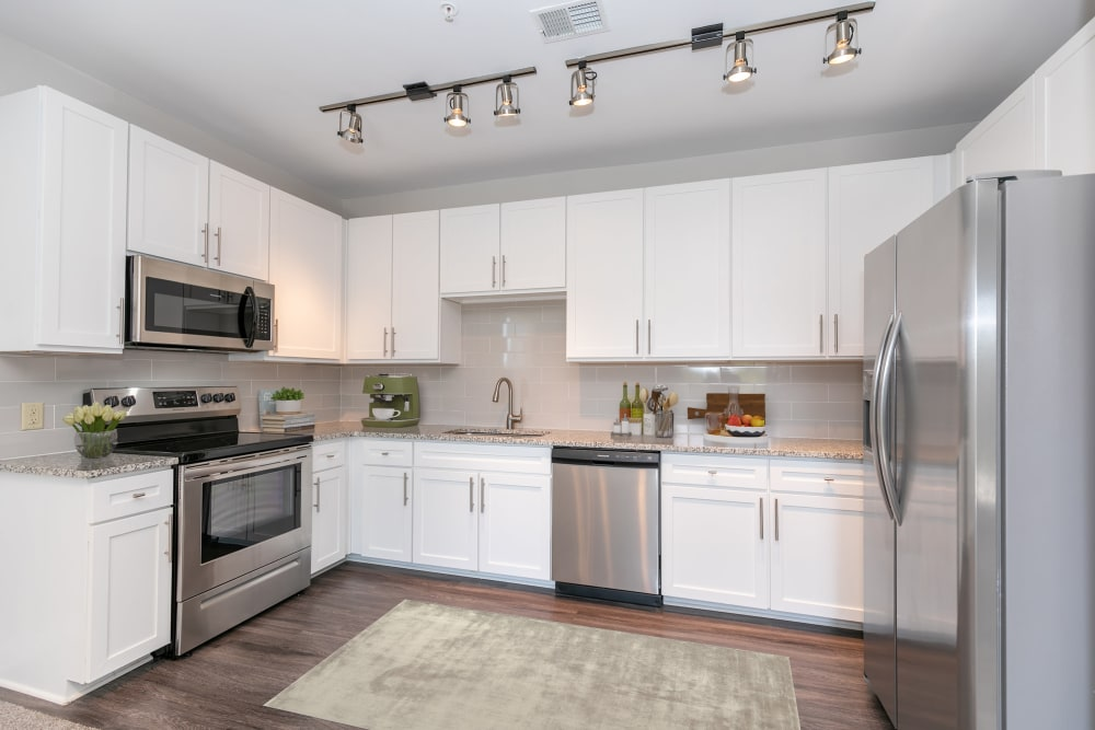White Kitchen Cabinetry at McBee Station in Greenville, South Carolina