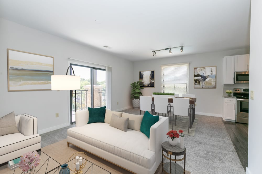 Bright living room at McBee Station