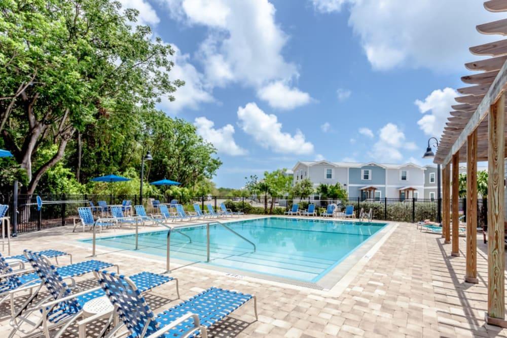 Sparkling pool at Keys Lake Villas in Key Largo, Florida