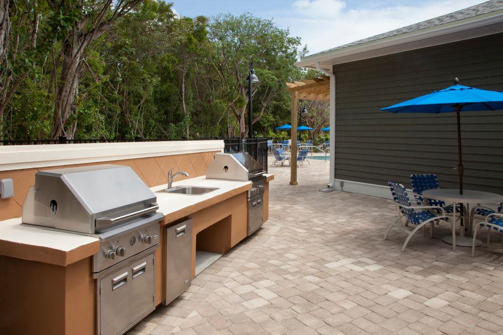BBQ area outside Keys Lake Villas in Key Largo, Florida