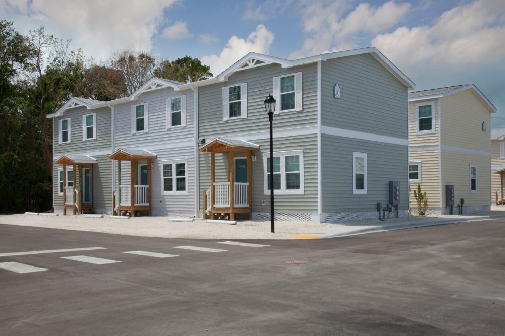 Exterior of apartments at Keys Lake Villas in Key Largo, Florida