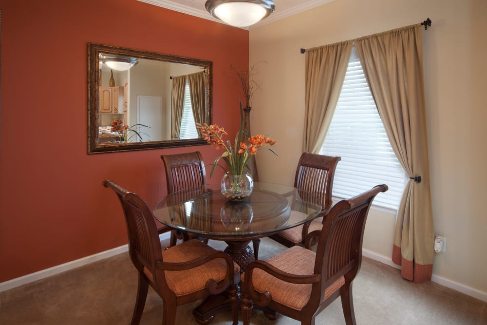 Dining table in suit at Keys Lake Villas in Key Largo, Florida