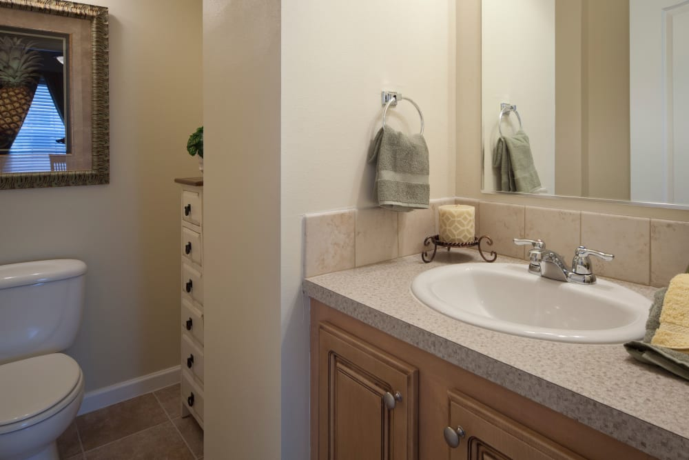 Bathroom layout at Keys Lake Villas in Key Largo, Florida