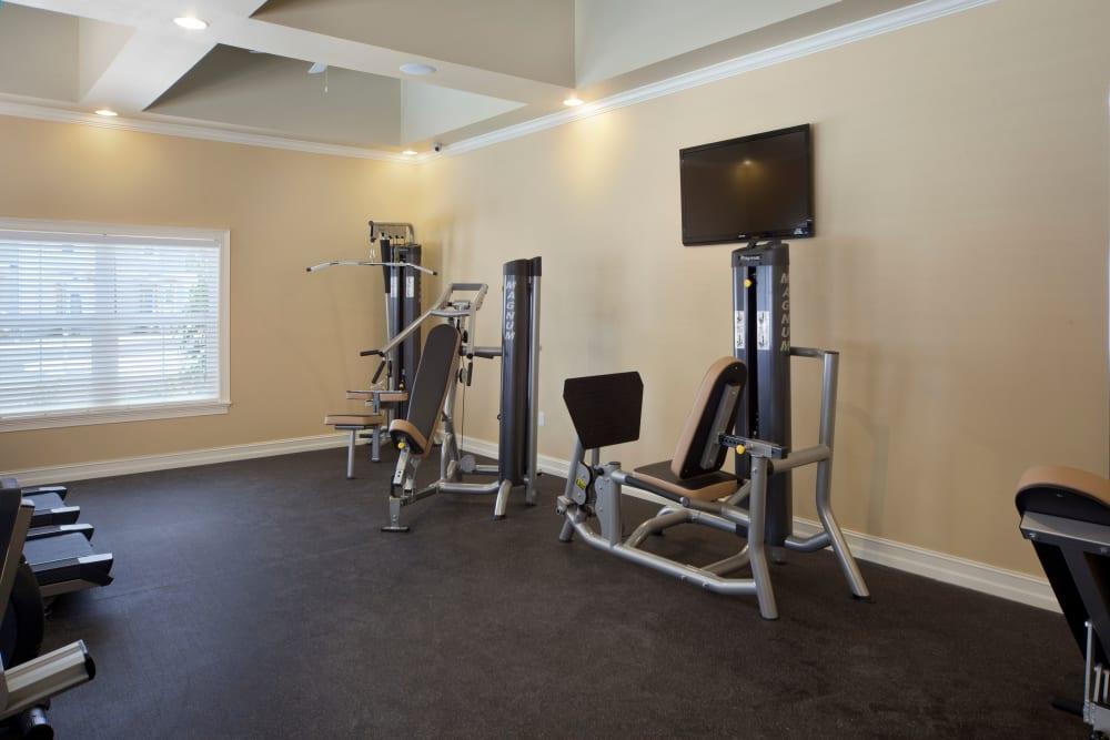 Small fitness center at Keys Lake Villas in Key Largo, Florida