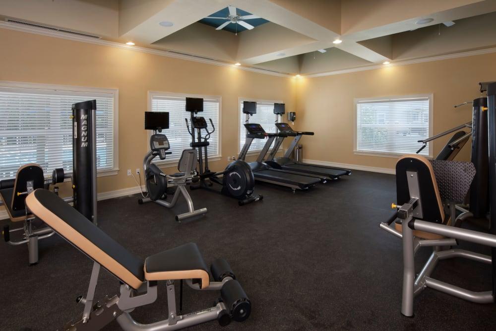 Treadmills in fitness center at Keys Lake Villas in Key Largo, Florida