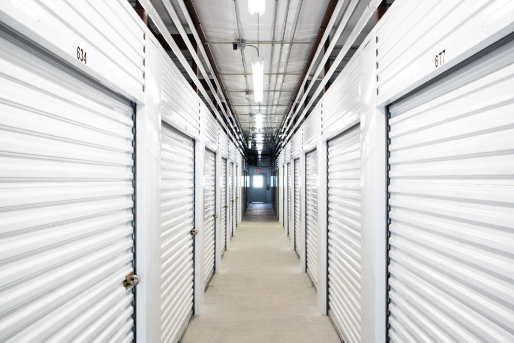 Climate-controlled storage at AAA Self Storage at Griffith Rd in Winston Salem, North Carolina