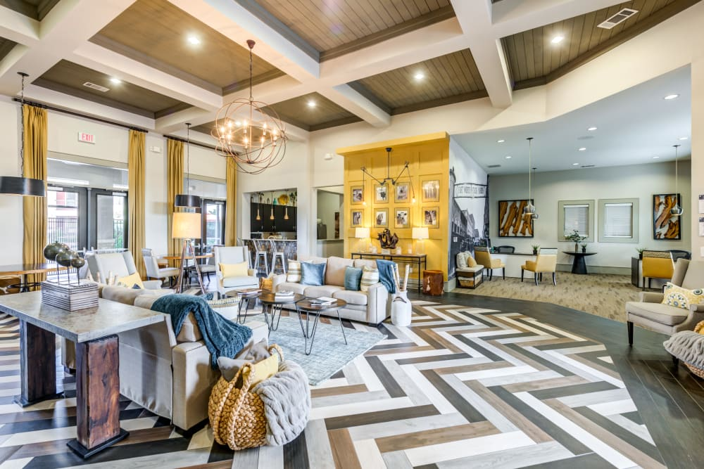Clubhouse interior at The Sovereign in Fort Worth, Texas