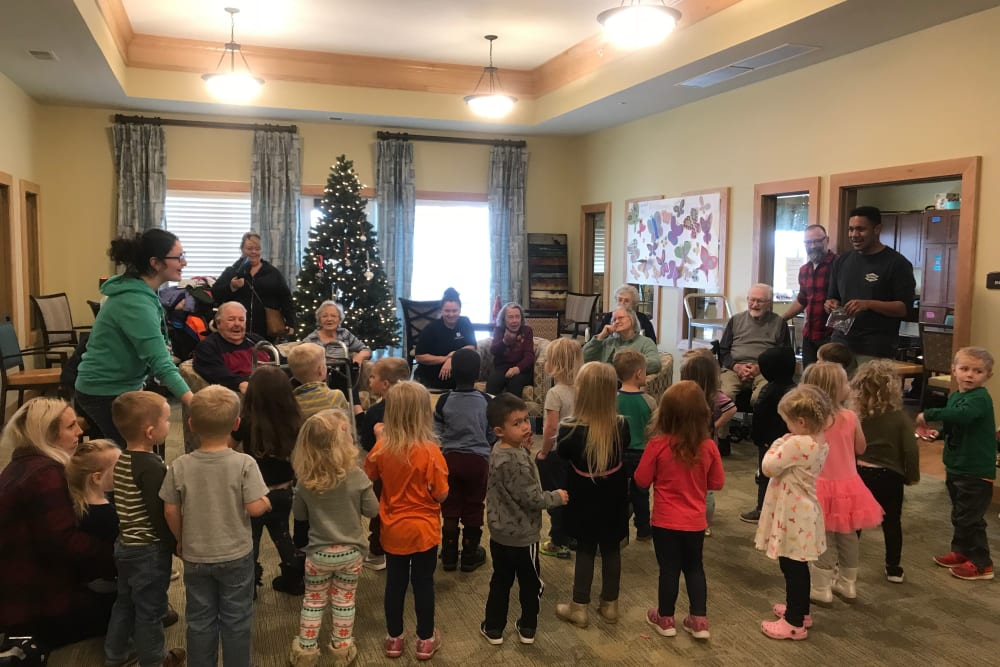 Christmas time activities at Edencrest at Green Meadows in Johnston, Iowa
