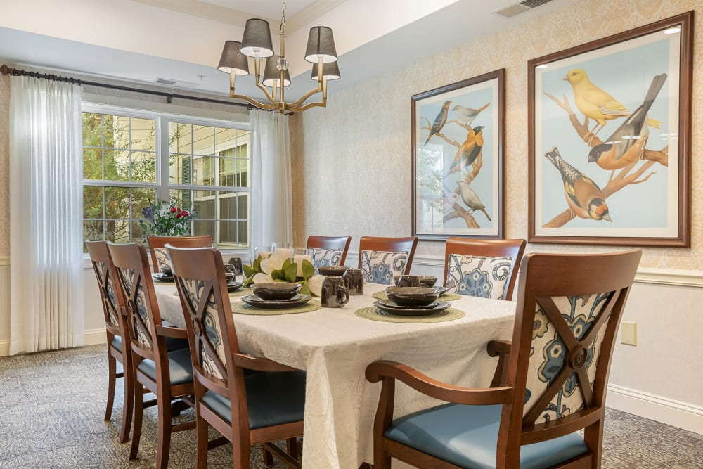 Private family dining room with room for 8 at The Hearth at Franklin in Franklin, Tennessee