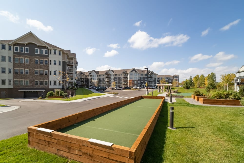 Bocce Ball court at Applewood Pointe Maple Grove at Arbor Lakes in Maple Grove, Minnesota