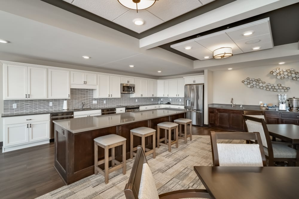 Great Room Kitchen at Applewood Pointe Maple Grove at Arbor Lakes in Maple Grove, Minnesota