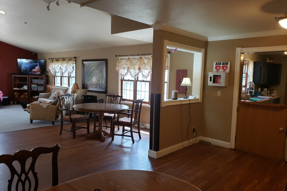 Community room at Carrington Assisted Living in Green Bay, Wisconsin