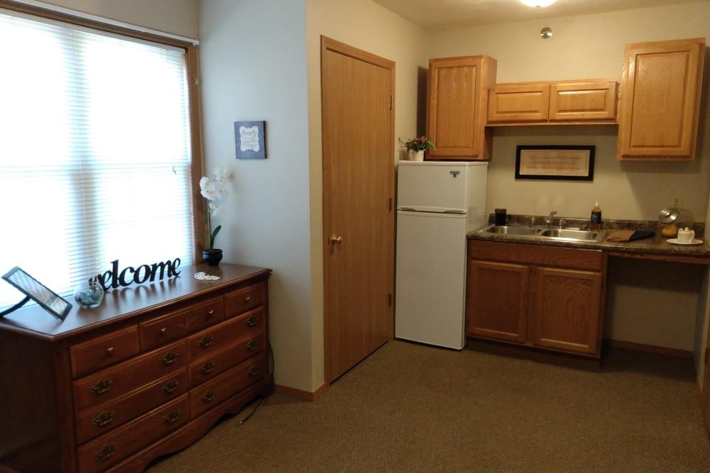 Kitchenette at Marla Vista in Green Bay, Wisconsin