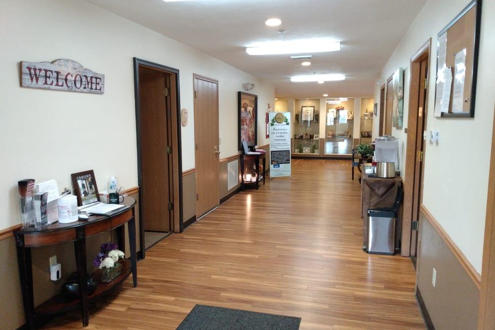 Hallway at Marla Vista in Green Bay, Wisconsin