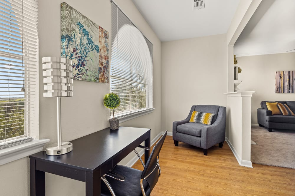 Home Office Space at Sedona Ranch Apartments in San Antonio, Texas
