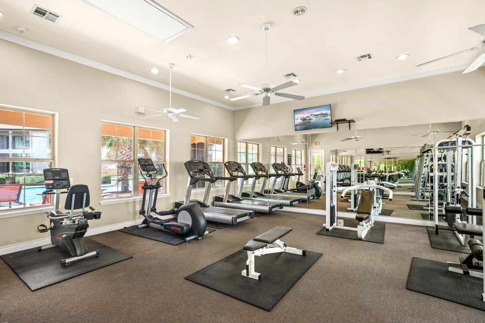 Fitness center at Villas at Medical Center in San Antonio, Texas