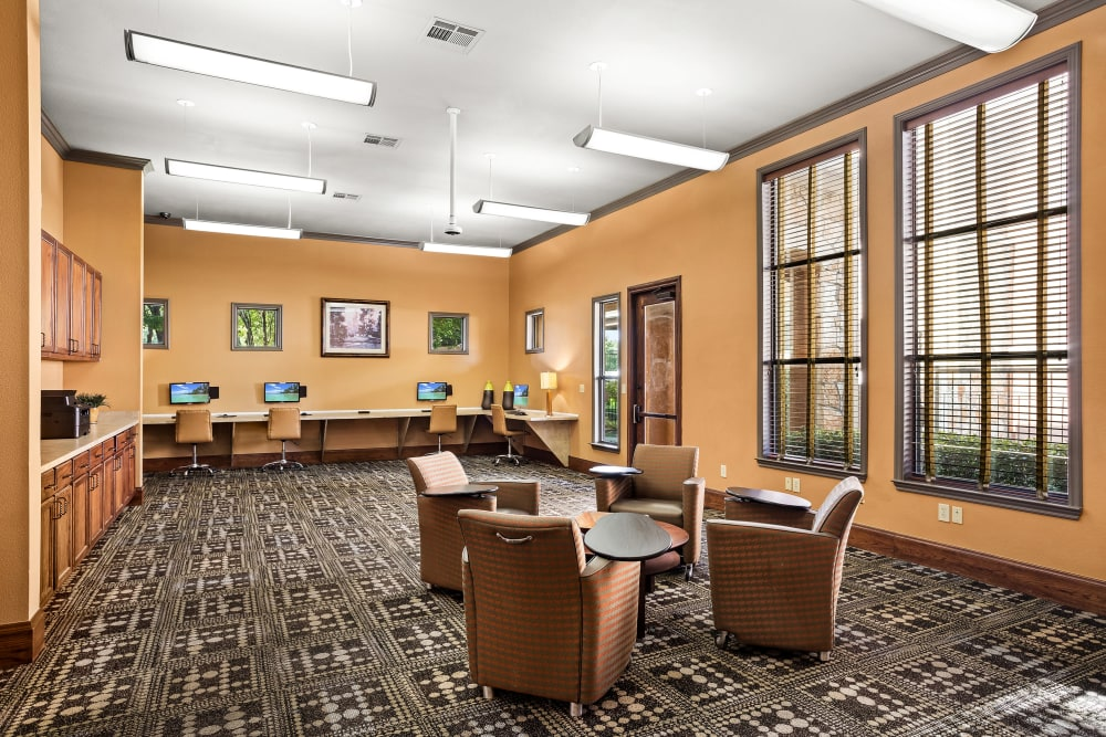 Business Center at Onion Creek Luxury Apartments in Austin, Texas