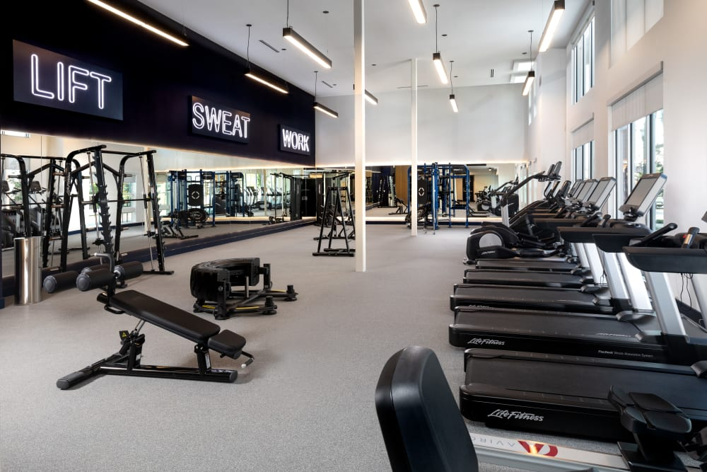 Fitness center at Olympus on Broadway in Carrollton, TX