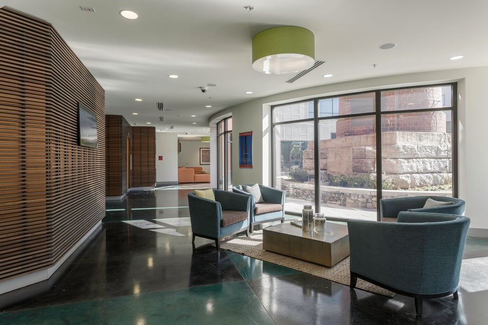 Beautiful clubhouse at City View Apartments in Nashville, Tennessee