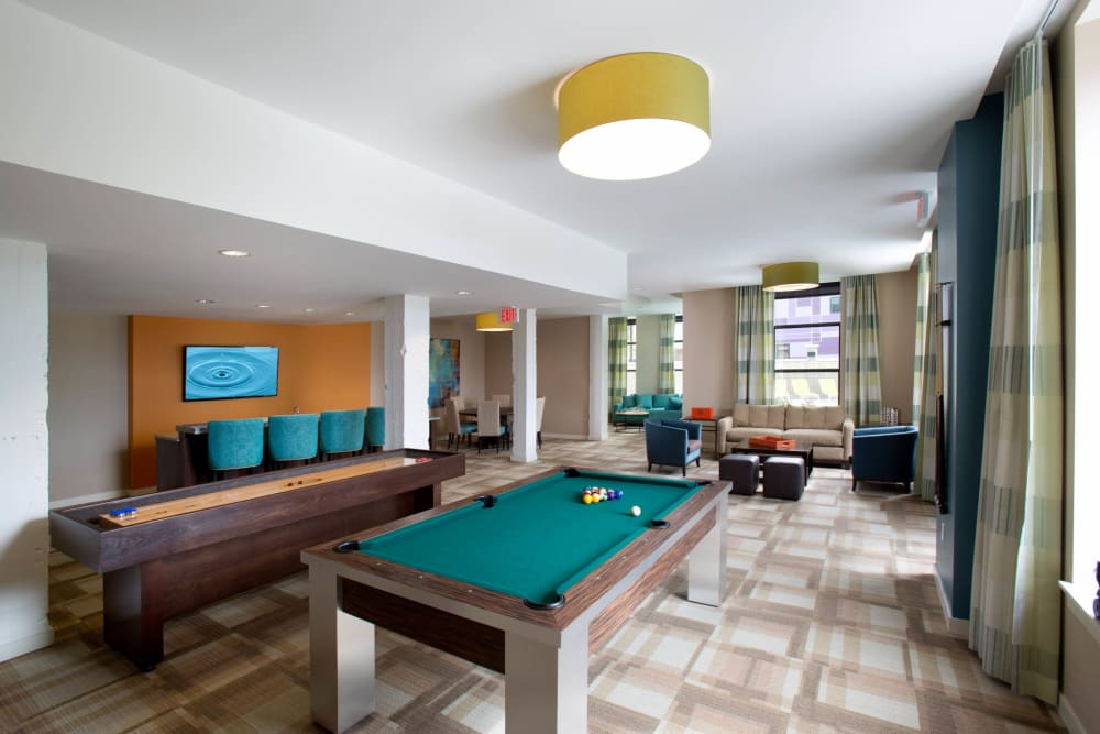 Pool table at City View Apartments in Nashville, Tennessee