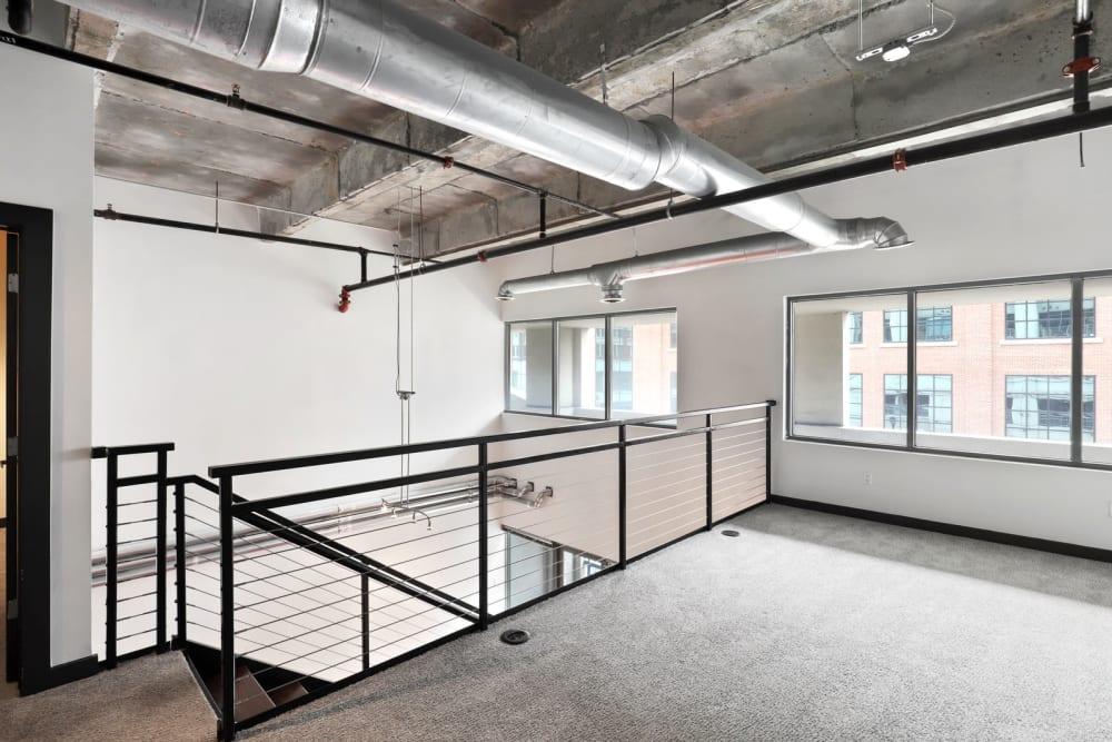 Open second floor at 17th Street Lofts in Atlanta, Georgia