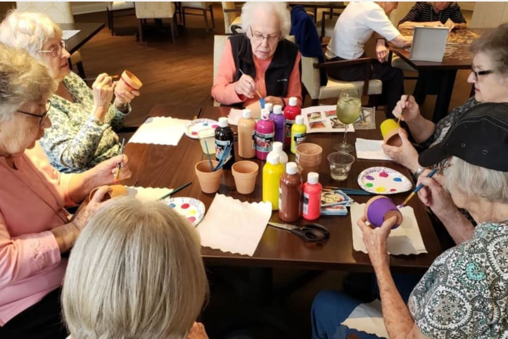 Community members at Legacy Living Florence in Florence, Kentucky gather together for some social time