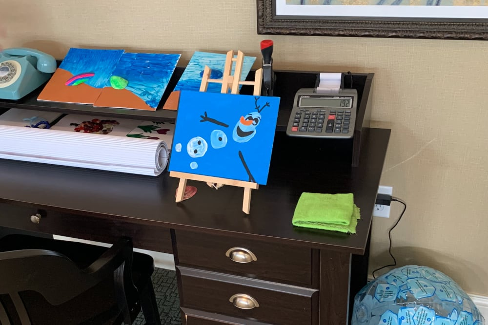 Art station at Legacy Living Florence in Florence, Kentucky
