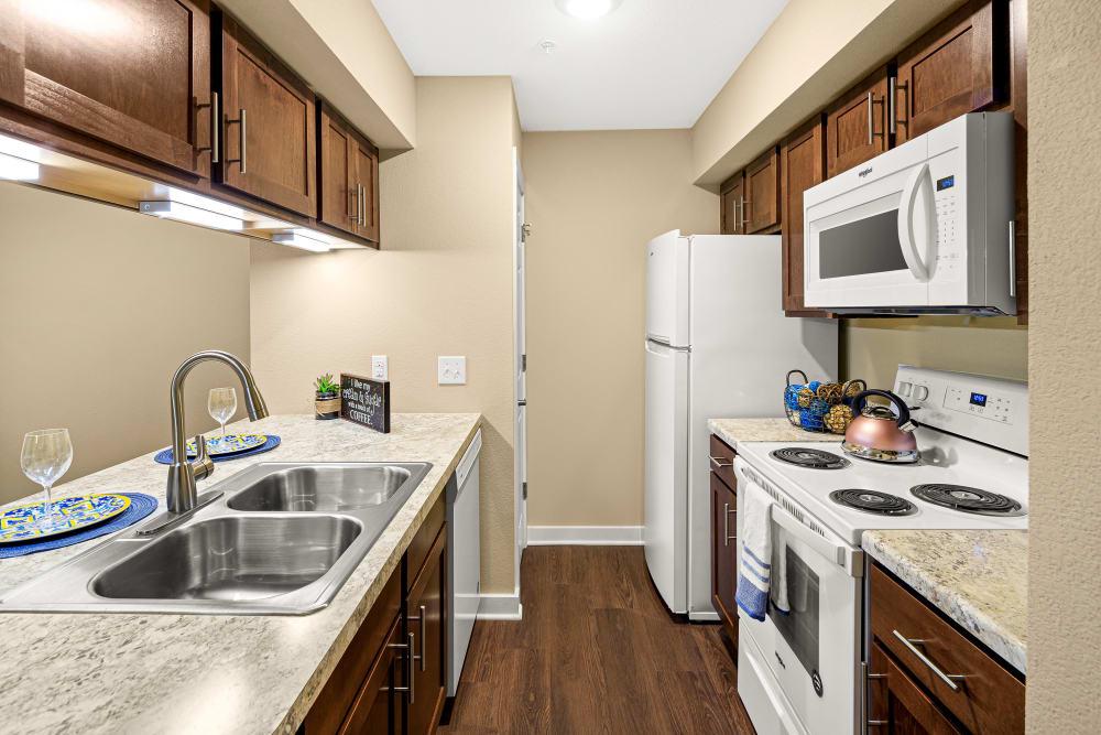 Kitchen at Stoneybrook Apartments & Townhomes in San Antonio, Texas