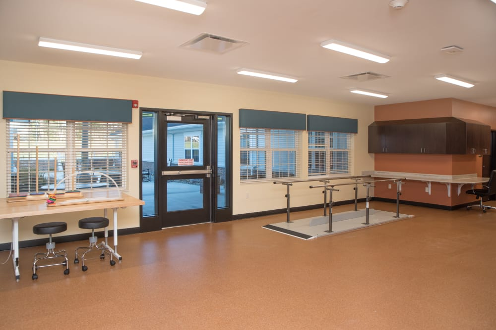 The physical therapy room at Harrison Trail Health Campus in Harrison, Ohio