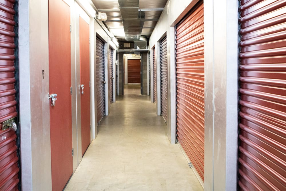 Climate-controlled storage at AAA Self Storage at W Market St in Greensboro, North Carolina