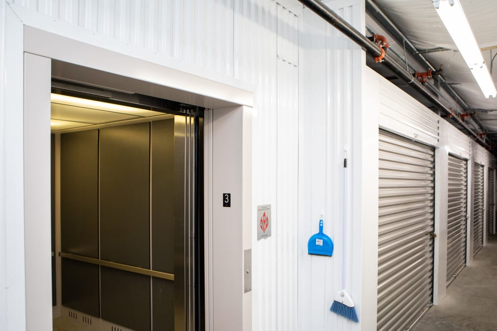 Elevator to access self storage in Kernersville, North Carolina at AAA Self Storage at Jag Branch Blvd