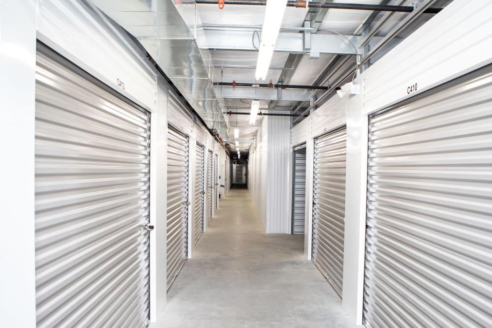 Hallway through AAA Self Storage at Jag Branch Blvd in Kernersville, North Carolina