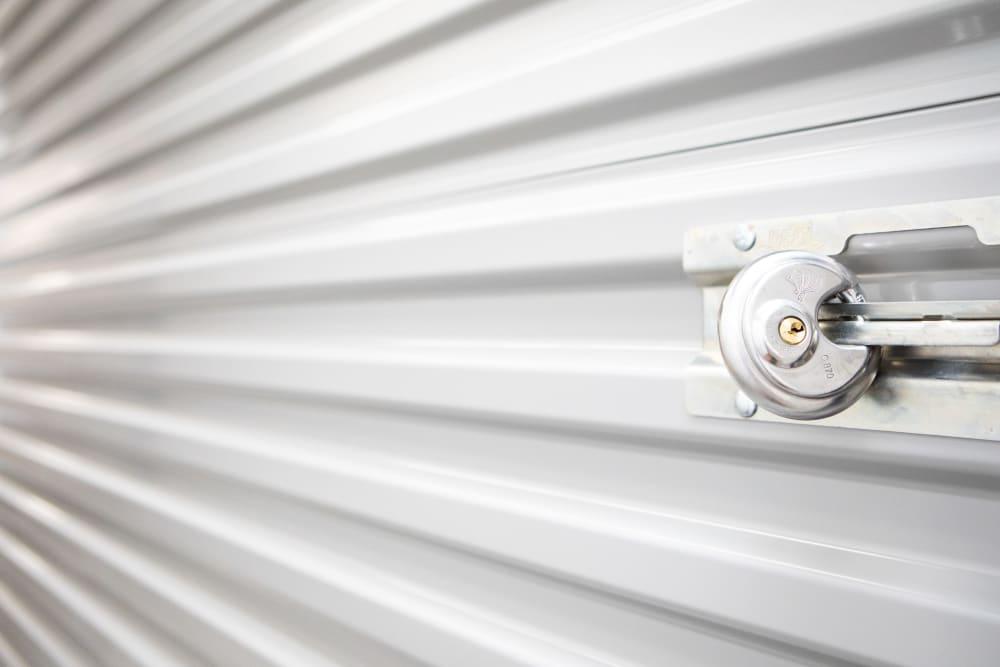 Lock on storage at AAA Self Storage at Jag Branch Blvd in Kernersville, North Carolina