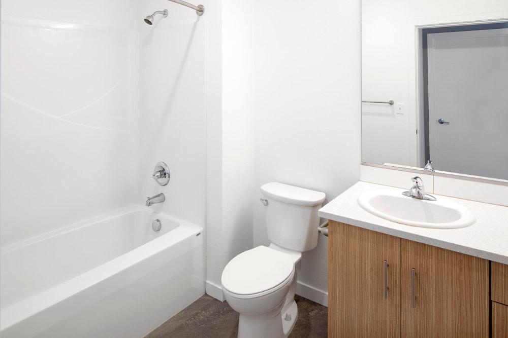Clean bathroom at Overlook Park in Portland, Oregon