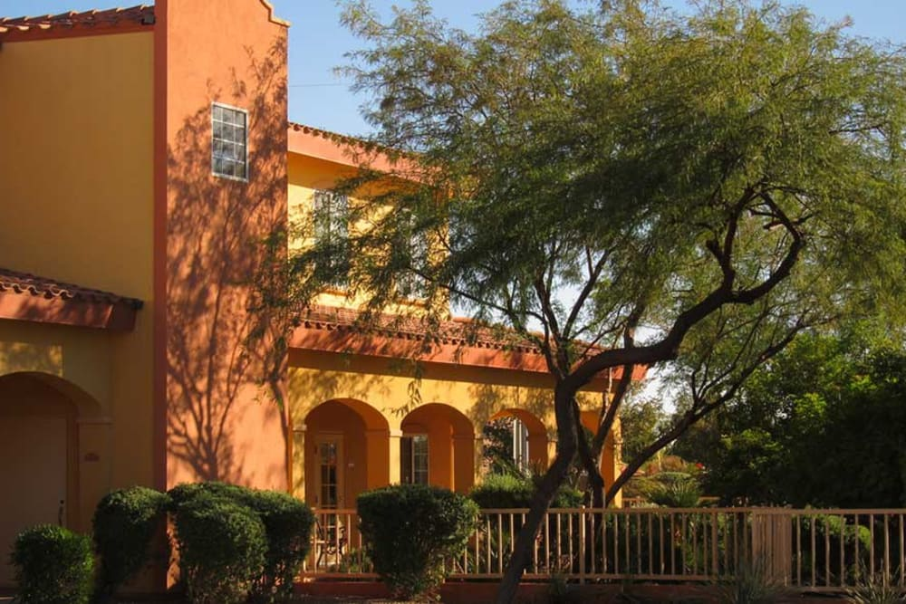 Outside of building at Pennington Gardens in Chandler, Arizona