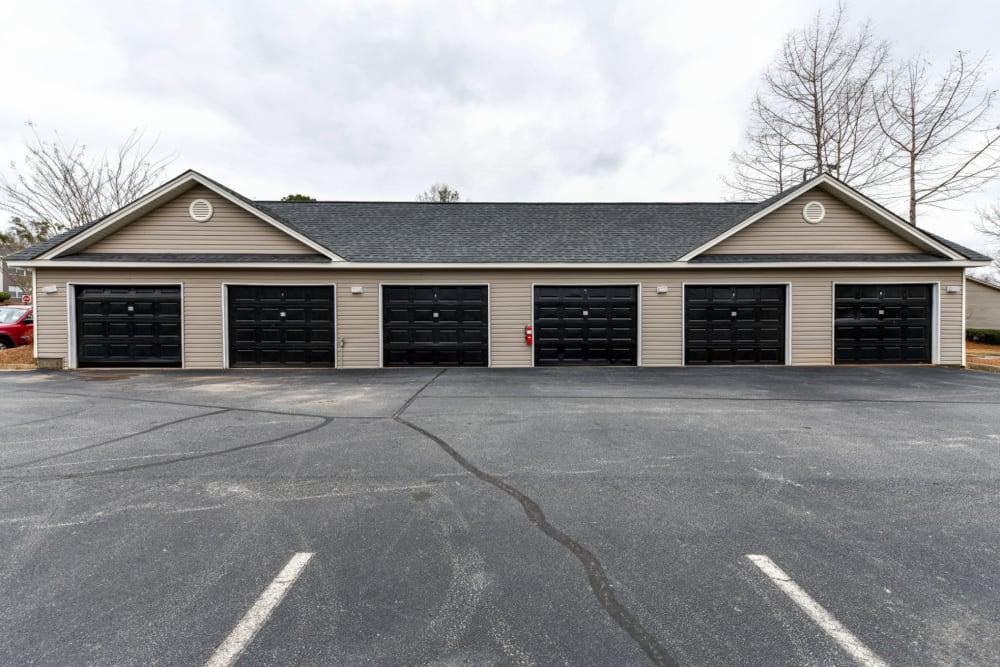 Parking garages at 900 Dwell in Stockbridge, Georgia