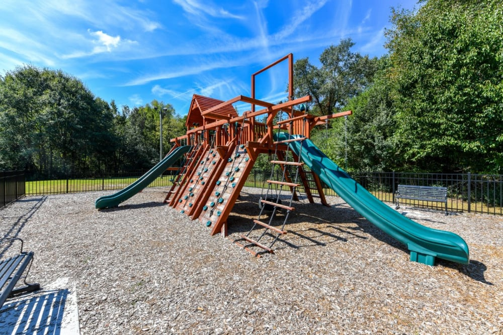 Play structure at 900 Dwell in Stockbridge, Georgia