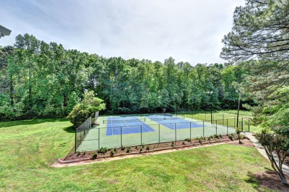 Tennis courts at Fields at Peachtree Corners in Norcross, Georgia