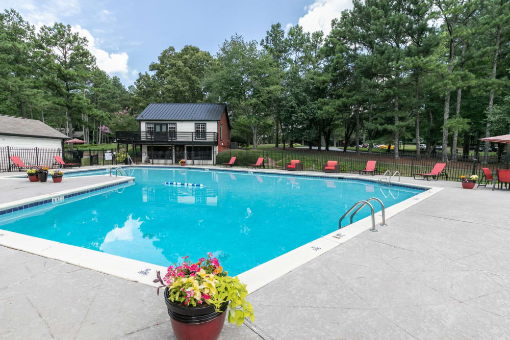 Swimming pool at The BelAire Apartment Homes in Marietta, Georgia