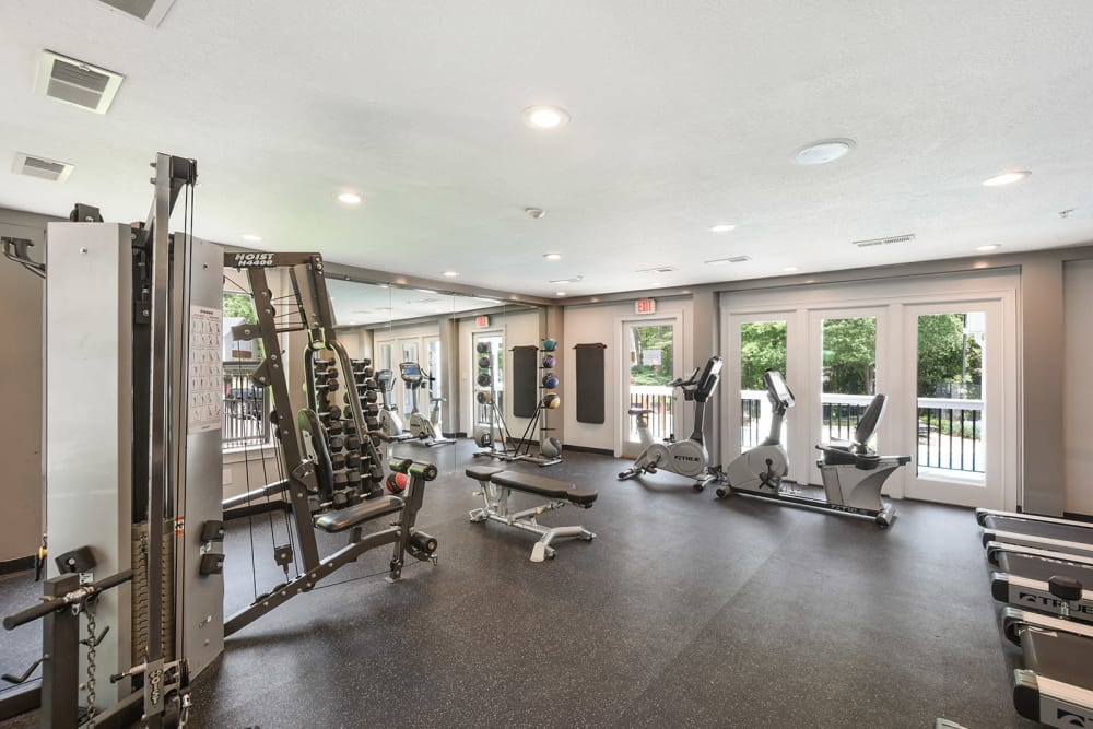 Fitness center at The Alcove in Smyrna, Georgia