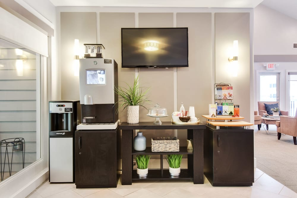 Coffee bar for residents at The Alcove in lSmyrna Georgia