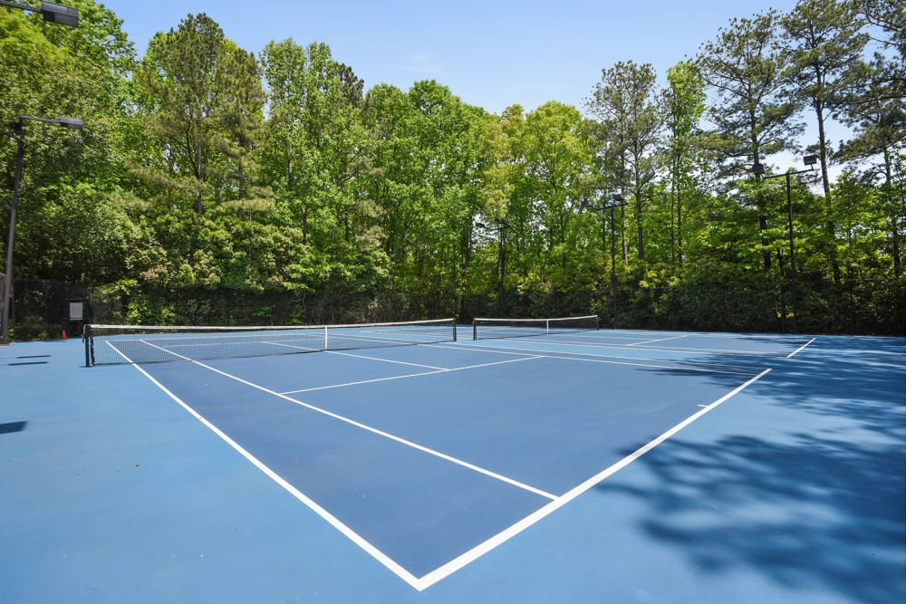 Outdoor tennis courts at The Alcove in Smyrna, Georgia
