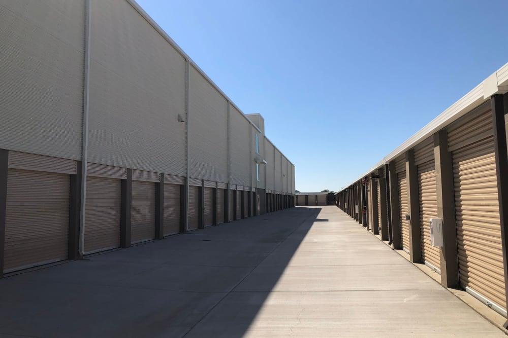 Storage units at Cypress Self Storage in Oakley, California