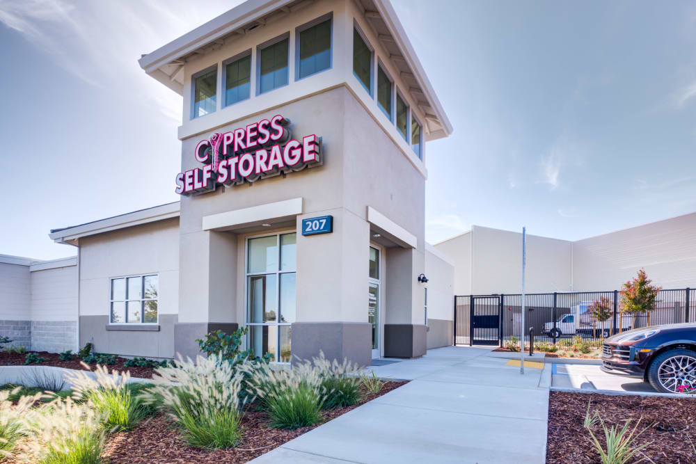 Office exterior at Cypress Self Storage in Oakley, California