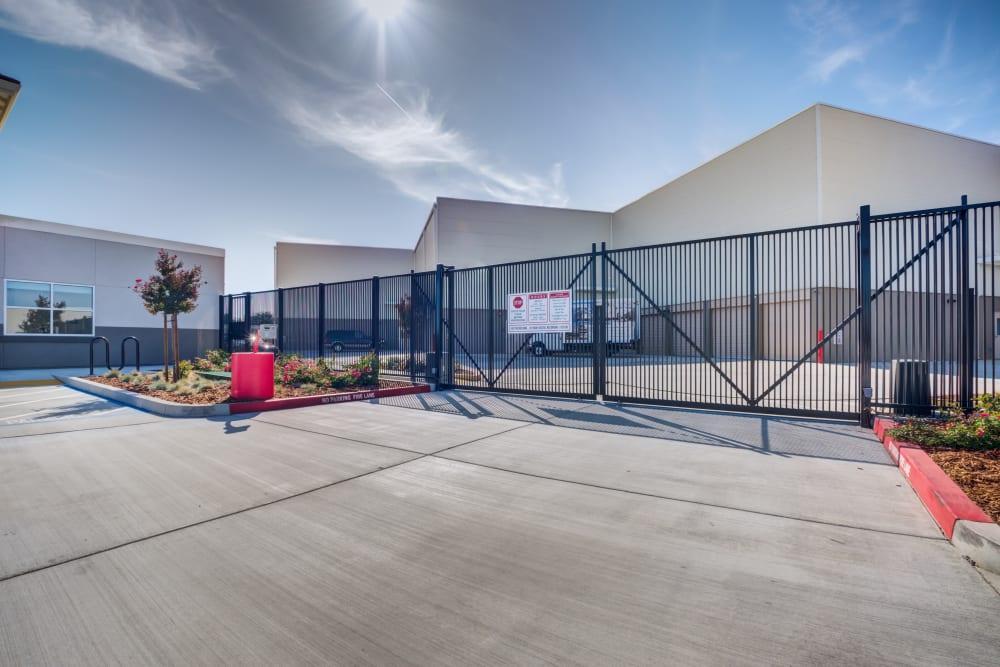 Entry gate Cypress Self Storage in Oakley, California