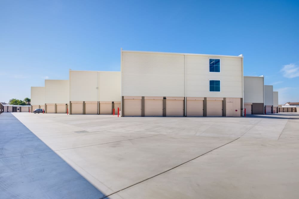 Drive up storage units at Cypress Self Storage in Oakley, California