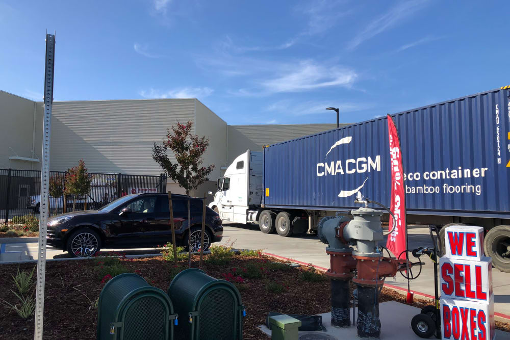 Busy day at Cypress Self Storage in Oakley, California