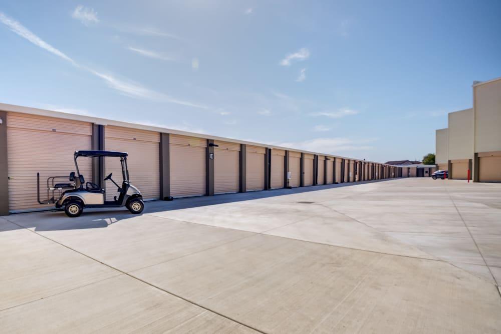 Drive up self storage units at Cypress Self Storage in Oakley, California