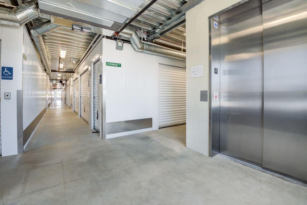 Elevator at Cypress Self Storage in Oakley, California